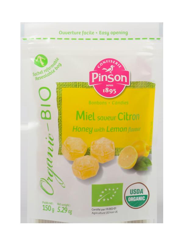 Bonbons au miel et citron bio Pinson