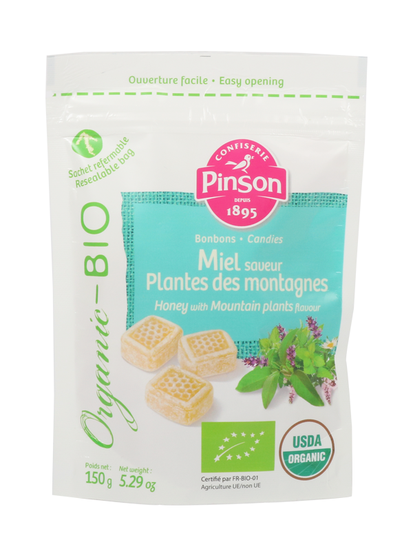 Bonbons miel plantes des montagnes bio Pinson