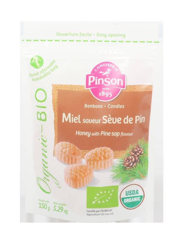 Bonbons miel sève de pin bio Pinson
