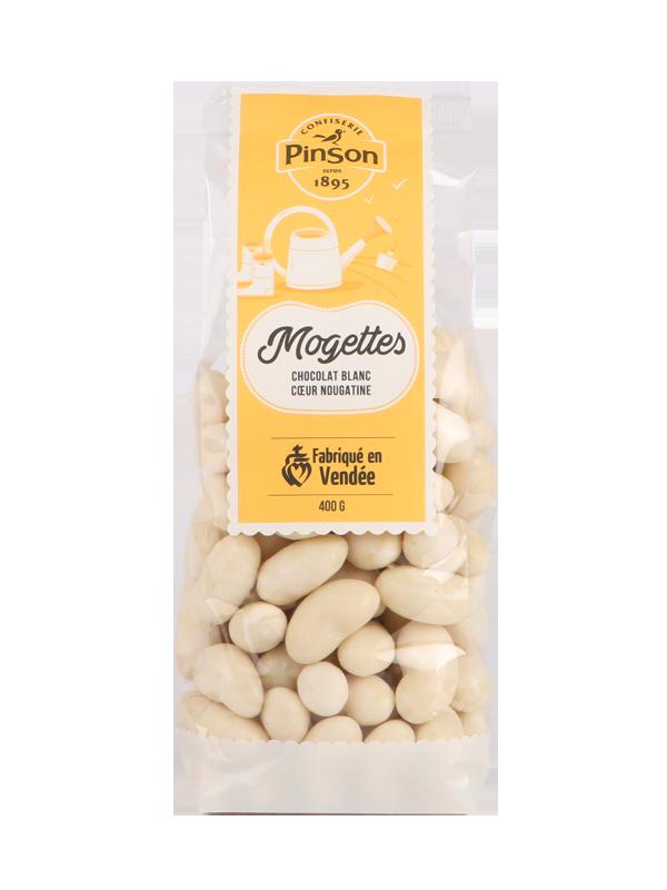 Mogettes au chocolat blanc Pinson