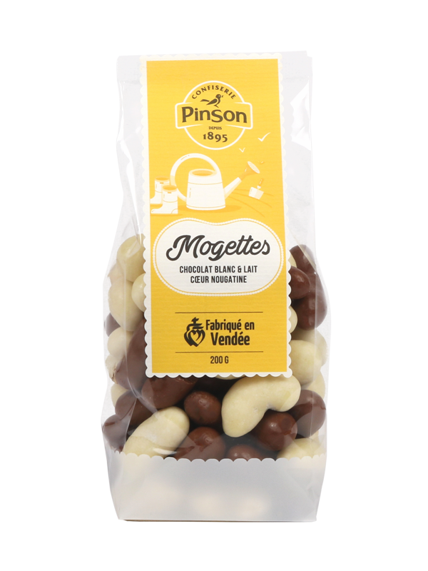 Mogettes 2 chocolats 200g Pinson