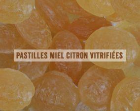 Pastilles miel de France citron vitrifiées
