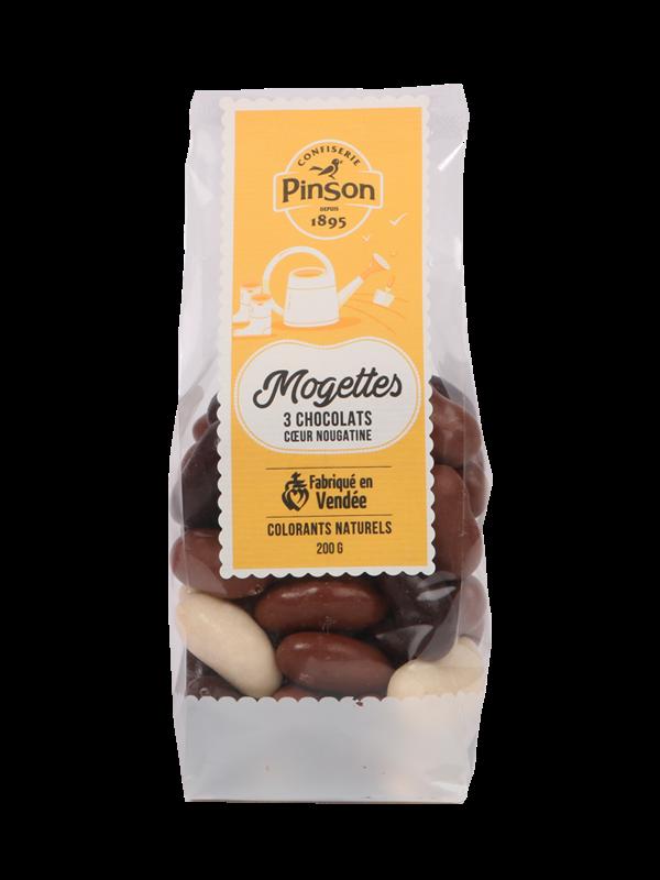 Mogettes 3 chocolats Pinson