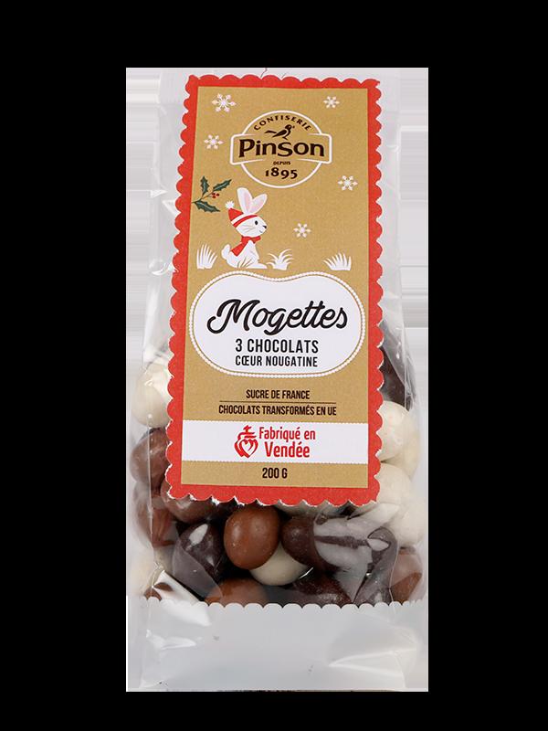 Mogettes de Noël 3 chocolats Pinson