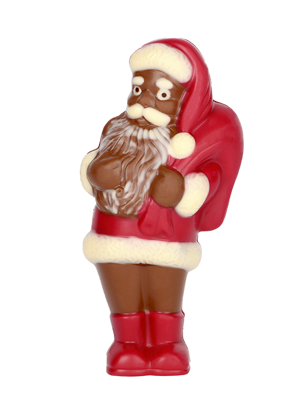 Grand père noël en chocolat Pinson